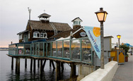 Seaport village is a bay front shopping dining for Fish market seaport village