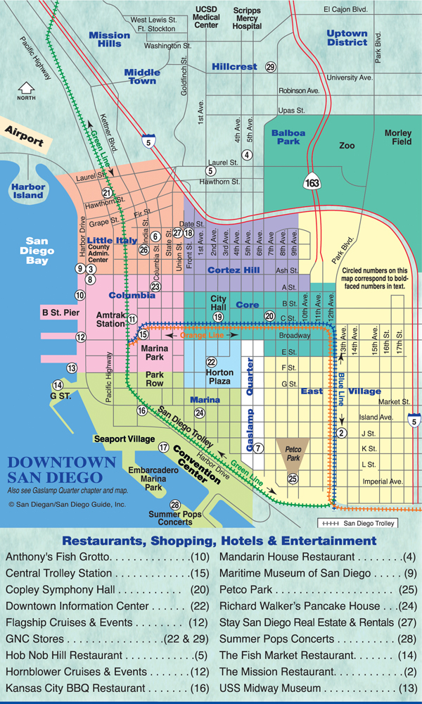 Downtown San Diego Is Home to the Gaslamp Quarter and Little Italy