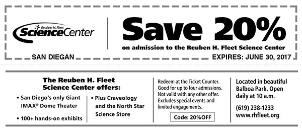 Getting to the Reuben H. Fleet Science Center is easy enough. Located in Balboa Park, it is accessible from Interstate 5, State Route and State Route 94, just follow the signs to downtown and Balboa Park. Reuben H. Fleet Science Center El Prado, .