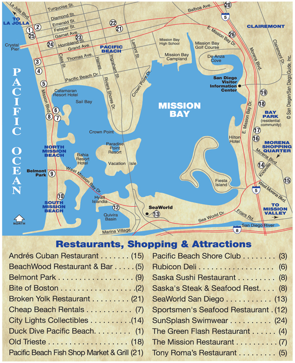 Mission Bay Map