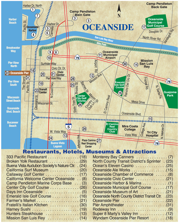 Oceanside Map