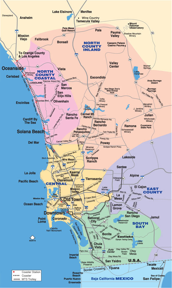 Map Of San Diego Neighborhoods My Blog