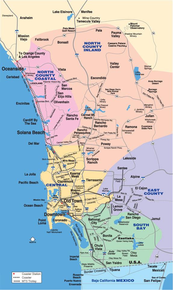 Map Of San Diego California Neighborhoods – Map of USA ...