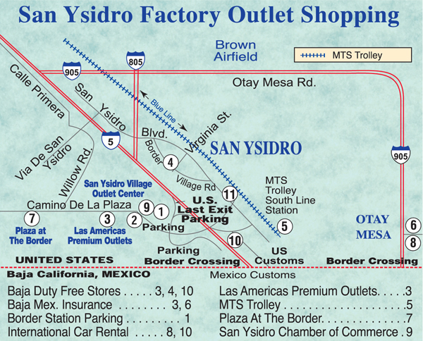 San Ysidro Map
