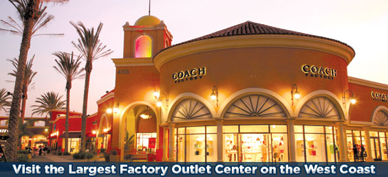 Visit the Largest Factory Outlet Center on the West Coast