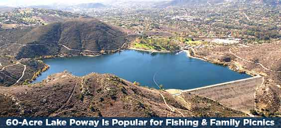 Lake Poway Is Popular for Fishing & Family Picnics