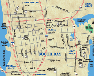South Bay San Diego Area Map