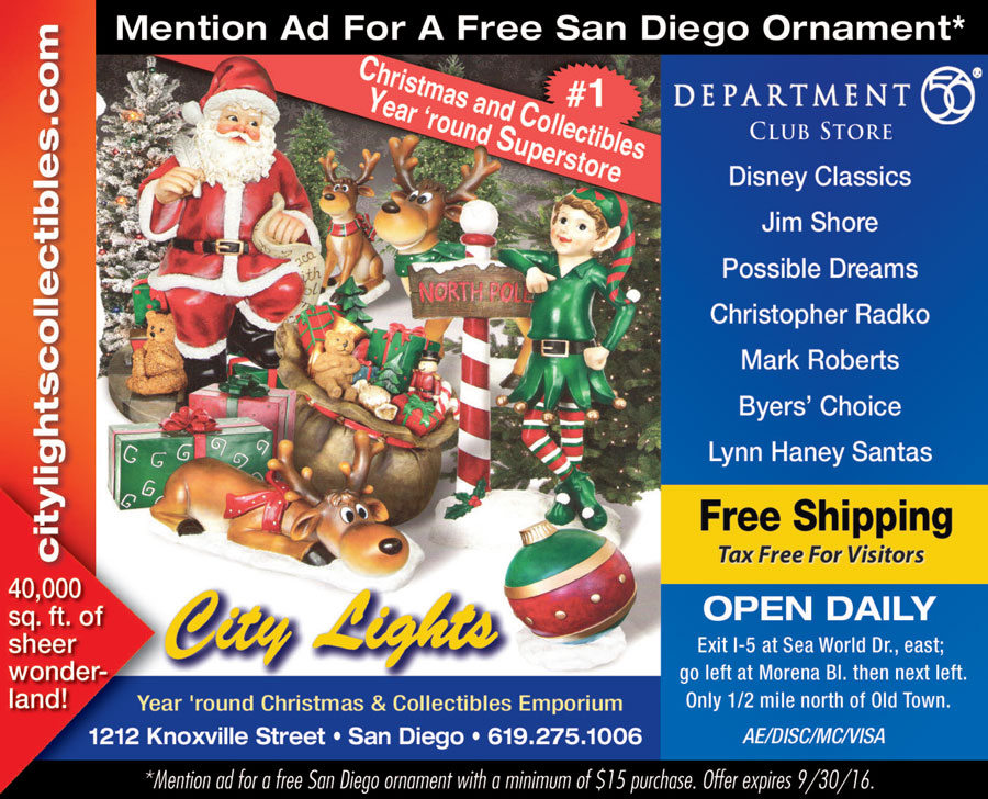 City Lights - City Lights Is A Year Round Christmas Store - SAN DIEGAN