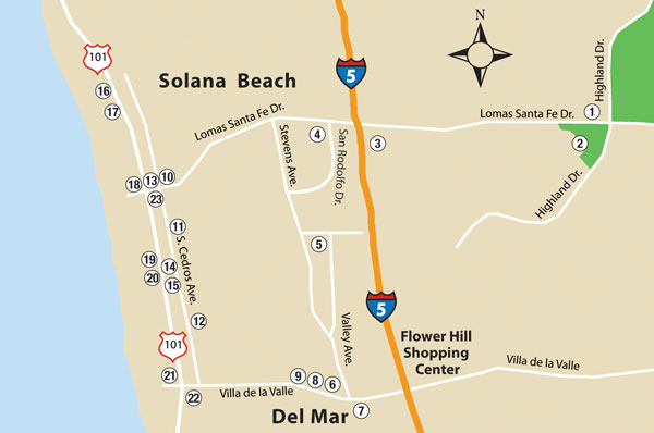 Solana Beach Is A Small Seaside Resort Town Along The