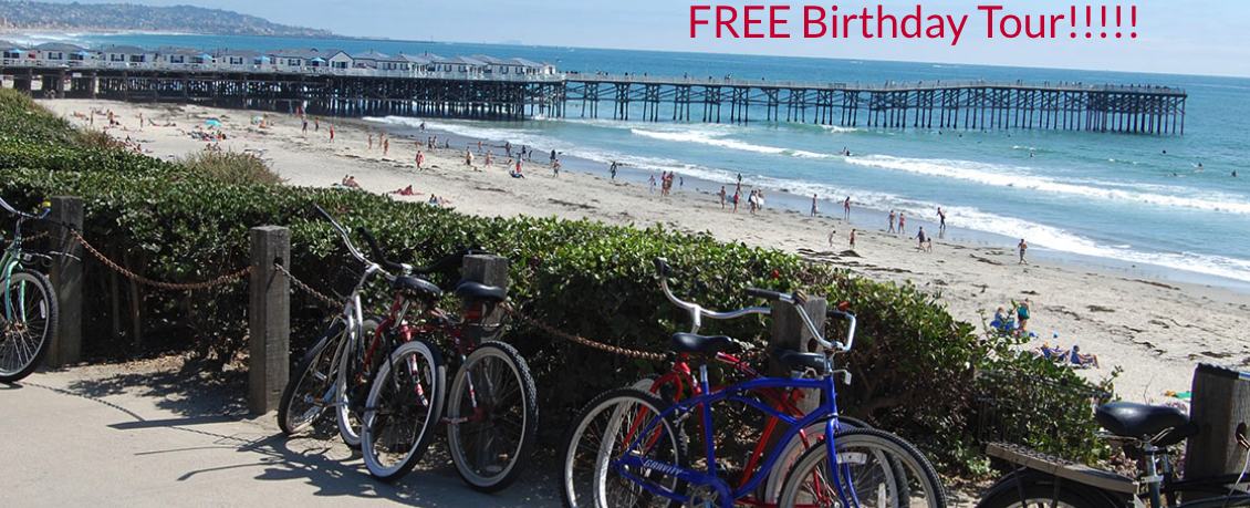 FREE Birthday Tour - Scenic Cycle Tours - San Diego Bike Tours